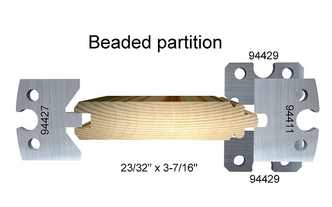 Beaded partition