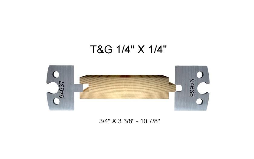 """T&G 1/4"""" x 1/4"""""""