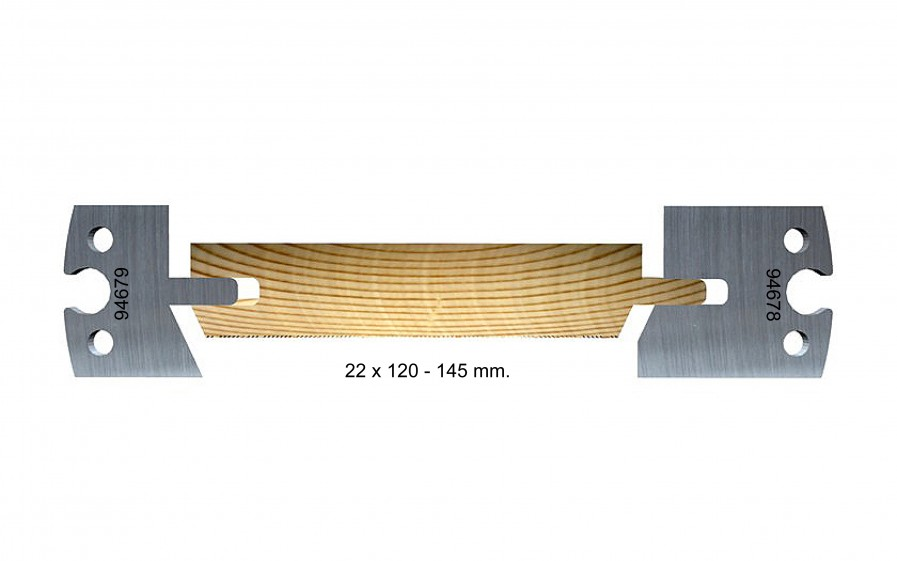 Chamfered, outdoor, 22 x 120–145mm