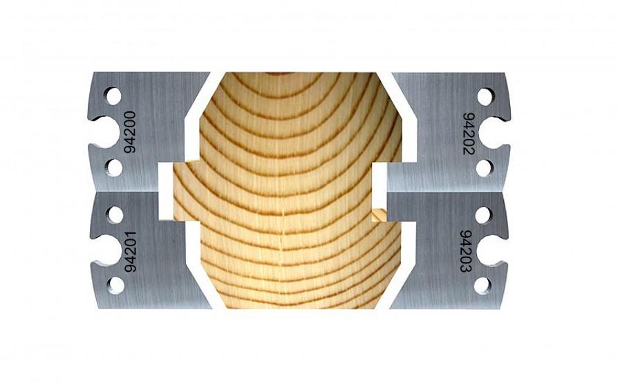 Log cabin panel, 80 mm