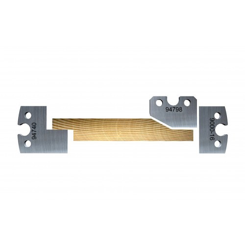 Double rabbet 28° chamfer with stagger