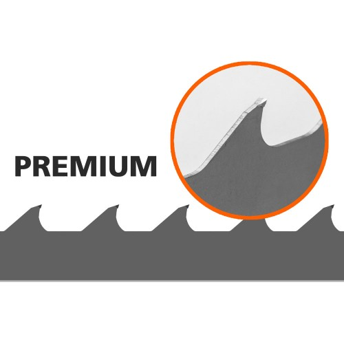 1 kpl vannesahan terä (Premium) Logosol B751, L: 3843 mm, W:34 mm